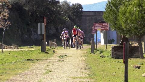 El geoparque en bicicleta