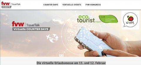 El Club Ecoturismo en España se promociona en la feria virtual de FVW de Alemania